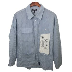 RDVZ Rendezvous Men's Big Label Shirt Blue White M